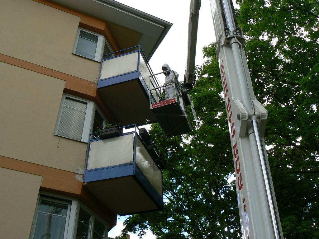 Deratizace balkón
